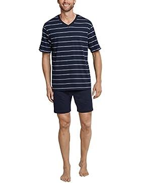 Schiesser Herren Zweiteiliger Schlafanzug Anzug Kurz