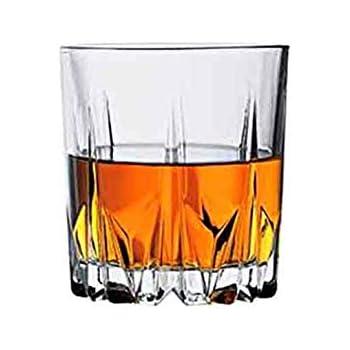 457220fd9236 Jaipurwala Crystal 300ml Whisky Glass(White) - Set of 2  Amazon.in ...