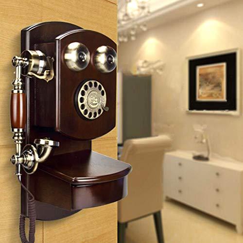 WanNing Vintage teléfono Pared clásico marrón Retro