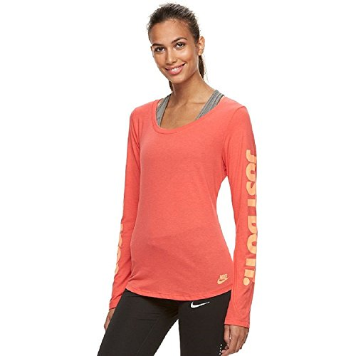 Nike Women's Just Do It Long Sleeve Graphic Tee (SMALL) (Long Shirt Womens Nike Sleeve)
