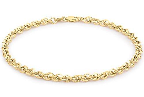 Pulsera de oro 9 K, 19 cm