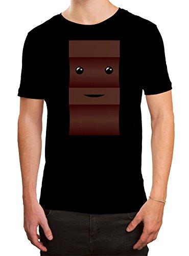 Kostüm Premium Herren - Kostüm Schoko Premium T-Shirt | Verkleidung | Karneval | Fasching | Herren | Shirt © Shirt Happenz, Farbe:Schwarz (Deep Black L190);Größe:XL