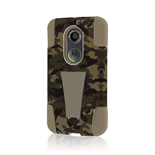 MPERO IMPACT X Series Cavalletto Case Custodia per Motorola Moto X XT1096 (2nd Gen 2014) - Hunter Camo
