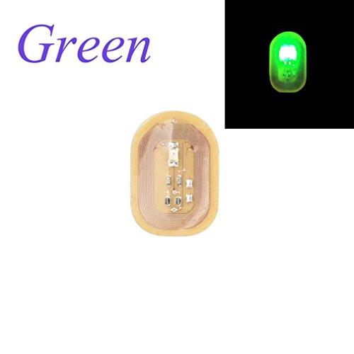 DIY Stickers Nageldesign SOMESUN NFC Telefon LED Licht Flash Party Dekor Nageltipps (Grün) (Louis Lv Hund Vuitton)