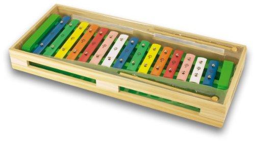 Xylophone métal et bois en coffret - jouet à 15 notes