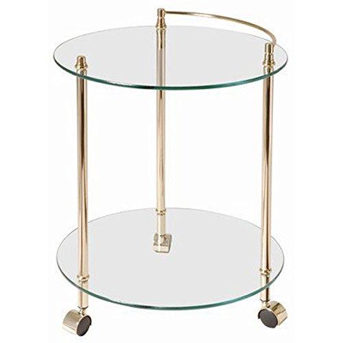 PEGANE Table pour desserte en Tube d'acier Coloris Doré, Dim : Hauteur 60 cm
