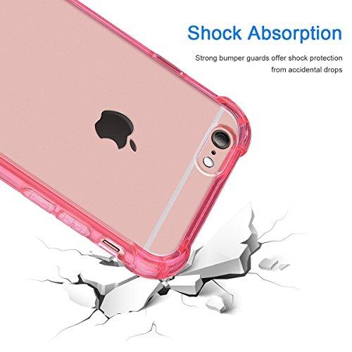 "iPhone 6s Handyhülle, iPhone 6 Slim Softcase, CLTPY Halbtransparenten [Air Cushion] TPU Schale Fall mit Stoßdämpfung & Kratzfeste für 4.7"" Apple iPhone 6/6s + 1 x Stift - Grau A Rot A"