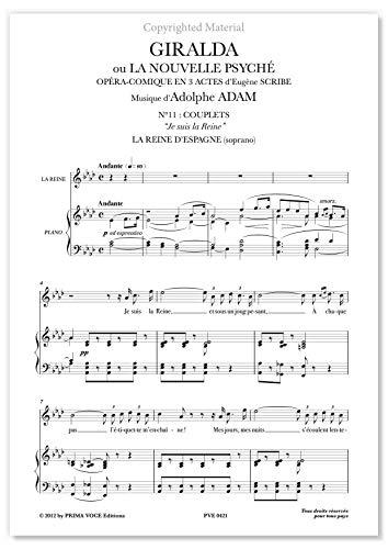 "Adam, Adolphe • GIRALDA • ""Je suis la Reine"" (soprano)"