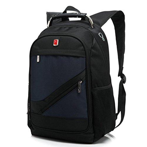 F@La nuova borsa del computer portatile del pacchetto di affari, da 15 pollici borsa del computer casuale zaino, zaino studente , red Blue