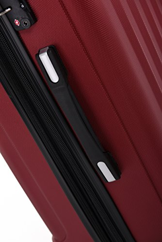 TSA-Schloß 2080 Hangepäck Zwillingsrollen neu Reisekoffer Koffer Trolley Hartschale XL-L-M(Boardcase) in 12 Farben (Weinrot, Set) - 3