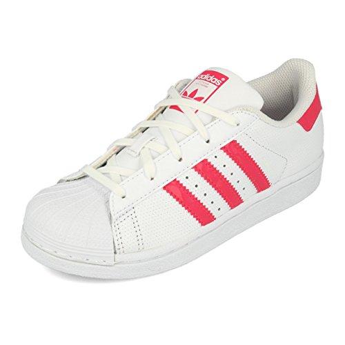 new concept cb4a8 a8ee0 adidas Unisex-Kinder Superstar Sneaker, Weiß (Footwear WhiteReal  PinkFootwear