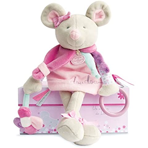 Peluche Pearly Mouse attività bambola di peluche per bambini, 30cm - Amore Piccolo Attività Giocattoli