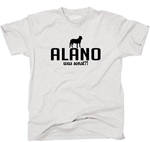 Siviwonder Unisex T-Shirt ALANO WAS SONST?! Wilsigns Hunde Hund fun ash - schwarz