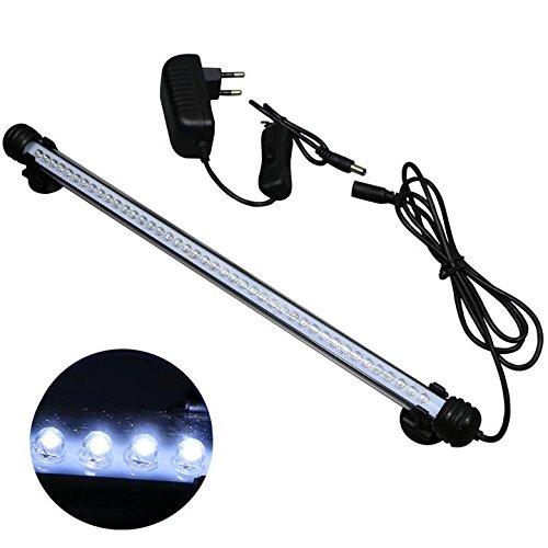 Mingdak LED Aquarium-Licht-Kit für Aquarium, Unterwasser -Tauchkristallglas -Leuchten geeignet für Salzwasser und Süßwasser, 42 Leds, 15-Zoll, Beleuchtung Farbe Weiß