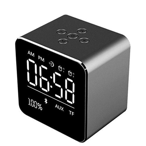 STRIR Reloj Alarma Digital Regulable con Radio FM Estéreo Y Sonido HD...