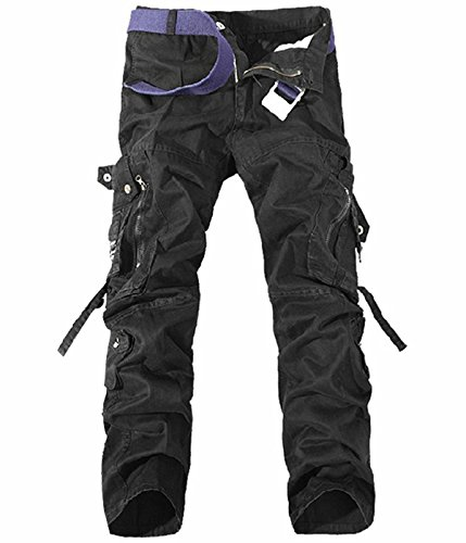 UMilk Herren Military Cargo Hosen Entspannungs-Fit Wild Pants