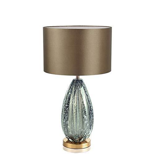 JUZEN Nachttischlampe Moderne amerikanische einfache grau-grüne Glastischlampe passend für Landhaus-Wohnzimmer-Schlafzimmer