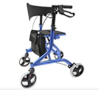 Falcon Rollator Ultra Lightweight, Folding, Height Adjustable, Stylish Rollator by z-tec mobility