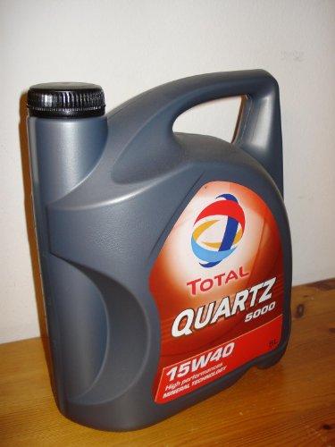 Total Quartz 5000 TOT-148645 15W-40 - Olio di motore, 5 lit