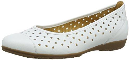 Gabor 24.169.21 Nubuck Damen Ballerinas, Weiß (White Leather), Größe: 39