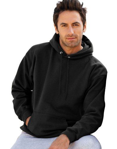 Hanes 90/10 Cotton/Poly 10 oz Ultimate Cotton Hooded Sweatshirt in Ash - XXX-Large -