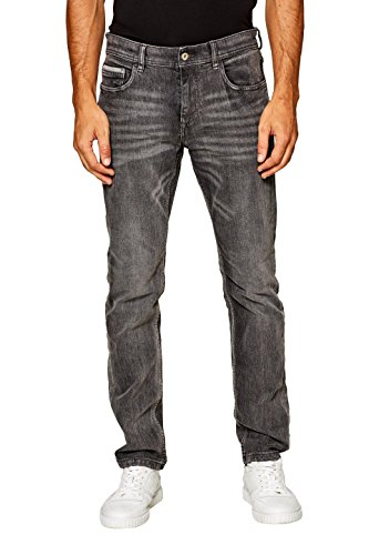 edc by ESPRIT Herren Slim Jeans 088CC2B008, Grau (Grey Medium Wash 922), W32/L30