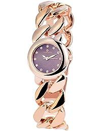 Reloj analógico Timento, de metal, diámetro de 27 mm, de oro rosa púrpura - 510033800015