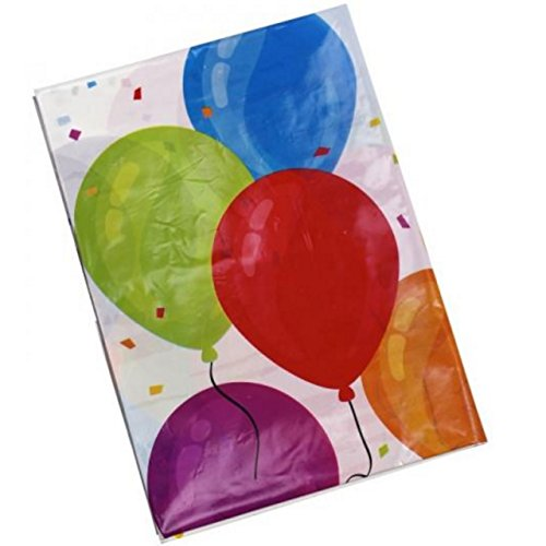 Party-Tischdecke Luftballons abwaschbar 130x180cm Kinder Geburtstag Garten Fest