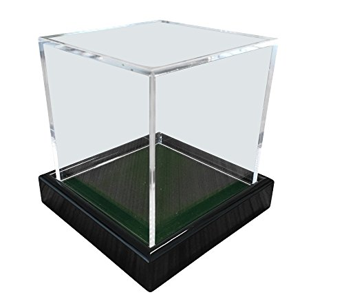 Universal Acryl Vitrine 10x10x10cm / showcase / display case / Schaukasten mit grünen Samt z.B. für Tennisball, Baseball, Golfball, Figuren, Modelle, Uhren etc. - 2