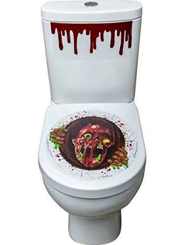 Halloween Party Deko Zubehör Zombie Portal WC Aufkleber 41x48cm