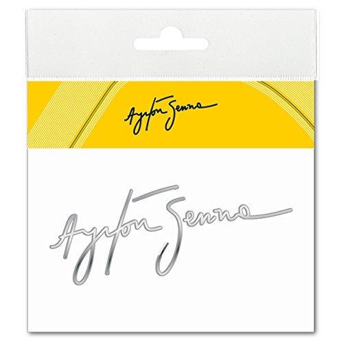 3d-epoxy (Ayrton Senna Aufkleber Signatur 3D EPOXY silber)