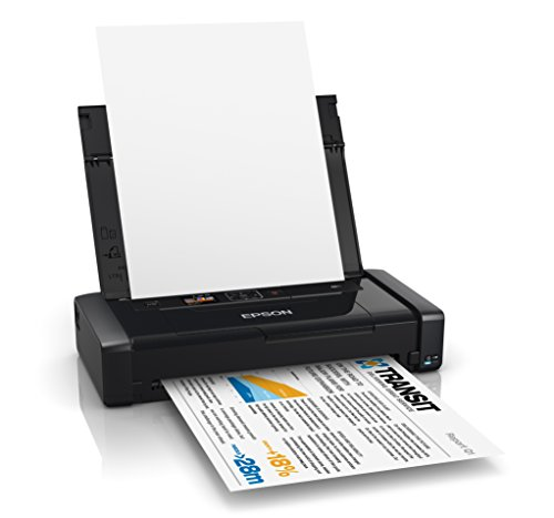 Epson Workforce WF-100W Portable Inkjet Printer with Built-in Battery, Wi-Fi, LCD Screen and USB Charge Function - Black