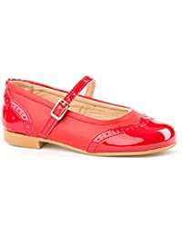 ac6b072ff Zapatos Merceditas Charol+Napa para Niñas Todo Piel Angelitos mod.1526.  Calzado Infantil Made in…