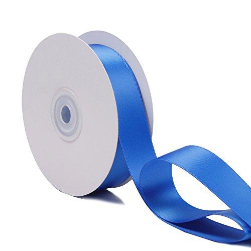 Ruspepa 22 m x 25 mm di larghezza double face nastro di raso (350 blu reale)