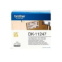Brother DK11247 Etichette per Spedizioni, 103.6x164.3 mm, Nero/Bianco