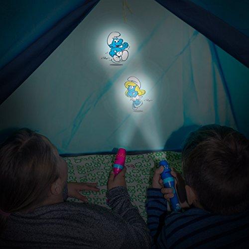 DIE SCHLÜMPFE Kinder-Taschenlampe / Projektionslampe Projektionsleuchte Mädchen pink - Lampe mit Projektor for girls - bestätigte Kindersicherheit von ANSMANN - 6