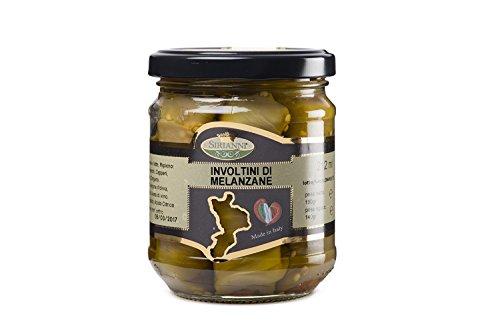 Calabria&calabria,involtini di melanzane in olio extravergine di oliva, 212ml by artimondo