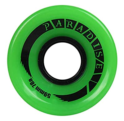 PARADISE Skateboard Cruiser Wheels 59mm 78A Green Old School Filmer by Paradise