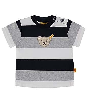 Steiff Collection Jungen T-Shirt 1/4 Arm 6833641, Mehrfarbig (y/d Stripe 0001), 62