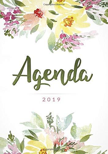 Agenda 2019: Agenda settimanale con calendario 2019 - 14,8x21 cm include Inspirational citazioni per motivazione