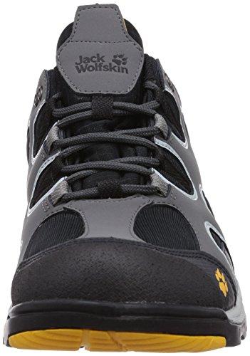 Jack Wolfskin CROSSWIND TEXAPORE O2+ M Herren Trekking- & Wanderhalbschuhe Grau (burly yellow 3800)