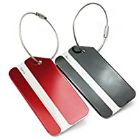 Pinzhi® 2 Colors Holiday Aluminium Metal Travel Luggage Baggage Suitcase Bag Name Address ID Label Tag Buckle Holder New
