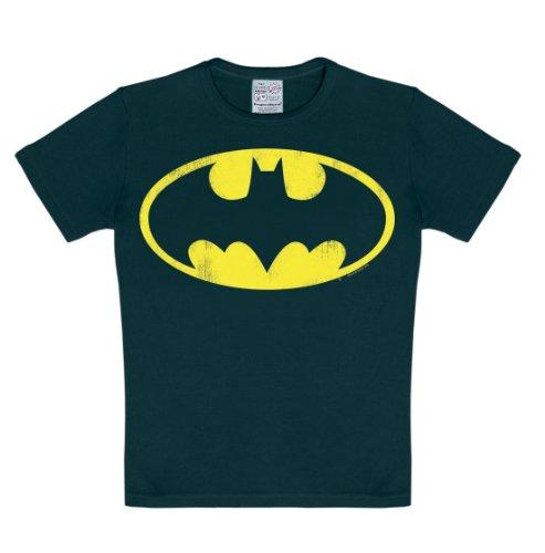 DC Comics - Superheld - Batman Logo T-Shirt Kinder Jungen - schwarz - Lizenziertes Originaldesign - LOGOSHIRT, Größe 80/86, 18 (Shirts Für Superhelden Erwachsene)