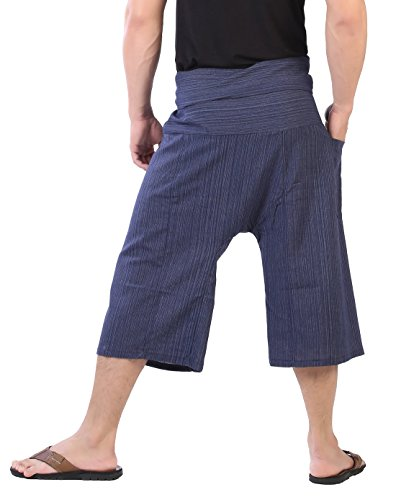 CandyHusky -  Pantaloni  - A righe - Uomo Blu scuro
