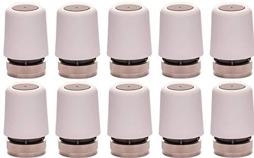 EAZY Systems   Stellantrieb 230V AC   für Fußbodenheizung   M30x1,5   (NC) stromlos geschlossen   passend für nahezu jeden Heizkreisverteiler, Homeatic IP, Heimeier, u.v.m.   10 Stück im Sparpack