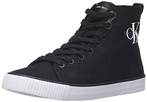 Calvin Klein Jeans Damen Dolores Canvas Hohe Sneakers, Schwarz (Black), 39 EU (Denim Schuhe Canvas)