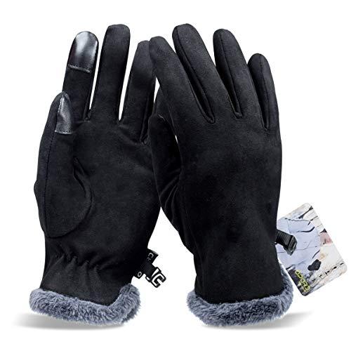 2256078d48ea6d Opard Touchscreen Handschuhe Damen Winterhandschuhe Fahrradschuhe Frauen Handschuhe  Winter Warm (M)