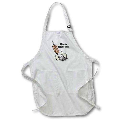 Schürze Haushälterin (3drose APR _ 102576_ 2dieses ist, wie ich rolle Vakuum Hausfrau Haushälterin Gr. M Länge Schürze mit Tasche Taschen, 22von 24)