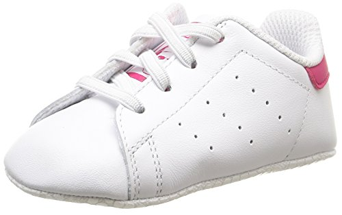 Adidas Stan Smith Crib Scarpe Walking Baby, Bambina, Multicolore (Ftwwht/Ftwwht/Bopink), 18