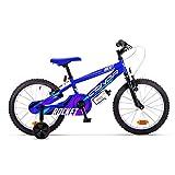 Conor Rocket 18' Bicicleta Ciclismo Unisex Infantil, Juventud (Azul), Talla Única
